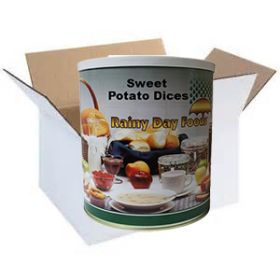 Dehydrated sweet potato dices #10 case 6 cans
