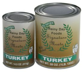 Turkey in 28 oz. can