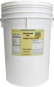 White Basmati Rice in 6 Gallon Superpail