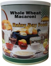Rainy Day Foods whole wheat macaroni pasta #10 can 50 oz.