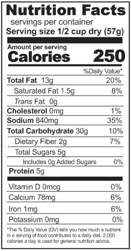 bacon potato chowder nutrition