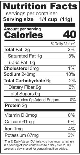 instant basil pesto nutrition