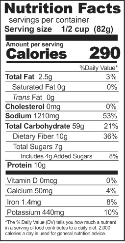 enchilada beans and rice nutrition
