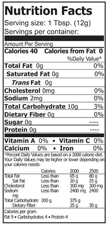 nutrition potato starch